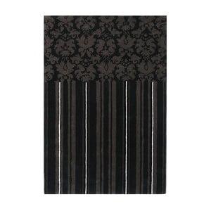 Wełniany dywan Past Black, 140x200 cm