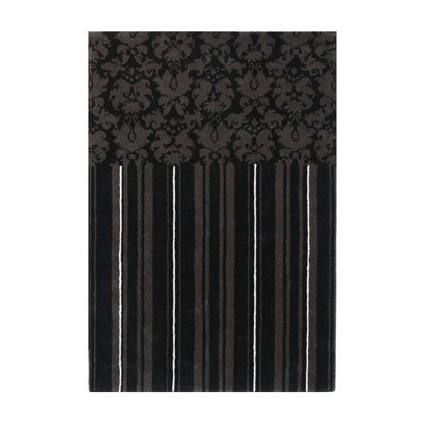 Wełniany dywan Past Black, 160x230 cm