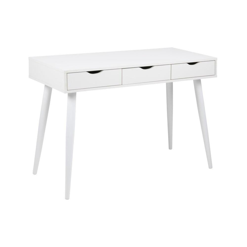 Białe biurko z szufladami Actona Neptun