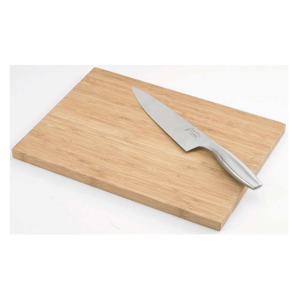 Deska Do Krojenia Z Nożem Szefa Kuchni Jean Dubost Bamboo Bonami