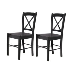 Zestaw 2 czarnych krzeseł Støraa Trento Cross