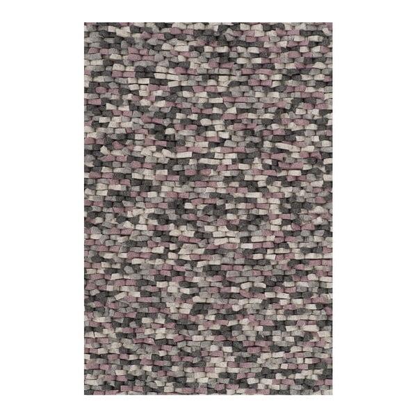 Wełniany dywan Crush Rose, 170x240 cm