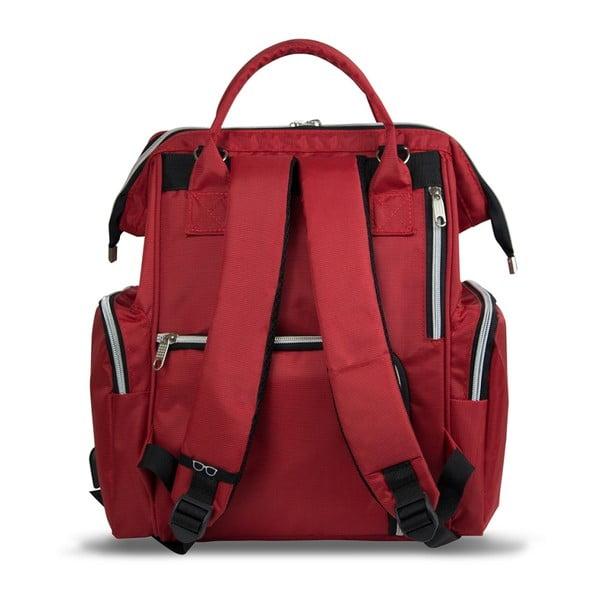 Czerwony plecak dla mam z USB My Valice HAPPY MOM Baby Care Backpack