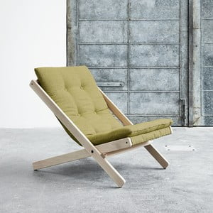 Fotel składany Karup Boogie Raw/Avocado Green