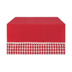 Bieżnik Basic Hearts  50x140 cm, czerwony
