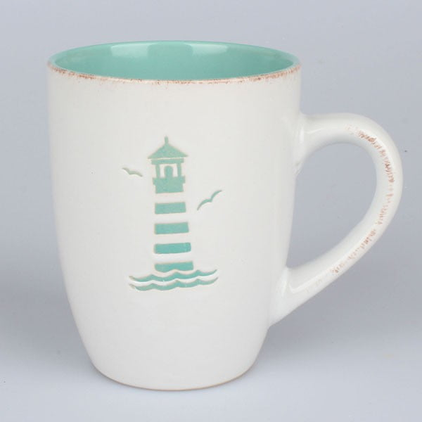 Ceramiczny kubek Latarnia morska, zielony