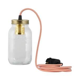 Lampa JamJar Lights, pomarańczowo-biały okrągły kabel