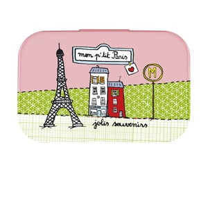Pudełko P'tit Paris, rose/vert