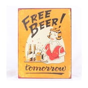 Blaszana tablica Free Beer