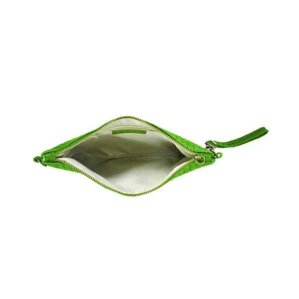 Skórzana kopertówka Catarina, zielona