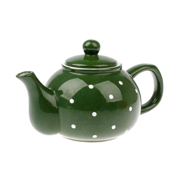 Zielony dzbanek ceramiczny Dakls Dots, 1 l