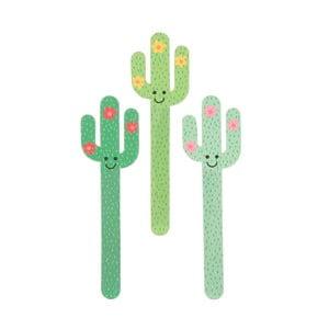 Zestaw 3 pilników do paznokci Sass & Belle Cactus