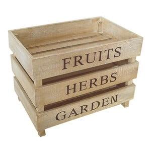 Zestaw 3 skrzynek Fruits, Herbs, Garden