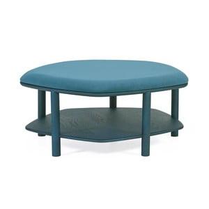 Niebieskozielony taboret z drewna jesionowego Harto Abel, ⌀84cm
