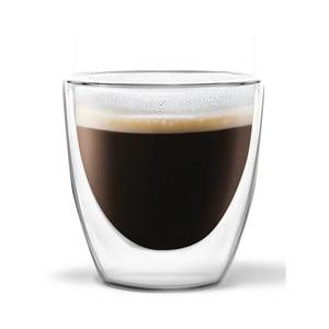 Komplet 2 szklanek z podwójną ścianką Vialli Design Ronny Espresso, 80ml