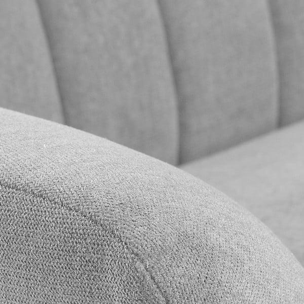 Jasnoszara sofa trzyosobowa La Forma Off