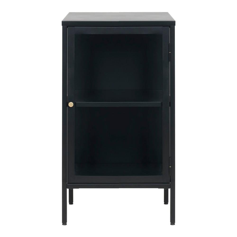 Czarna witryna Unique Furniture Carmel, wys. 85 cm