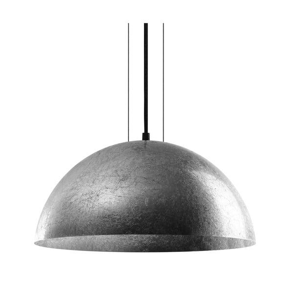 Lampa wisząca w srebrnym kolorze Bulb Attack Cuatro, średnica 40 cm