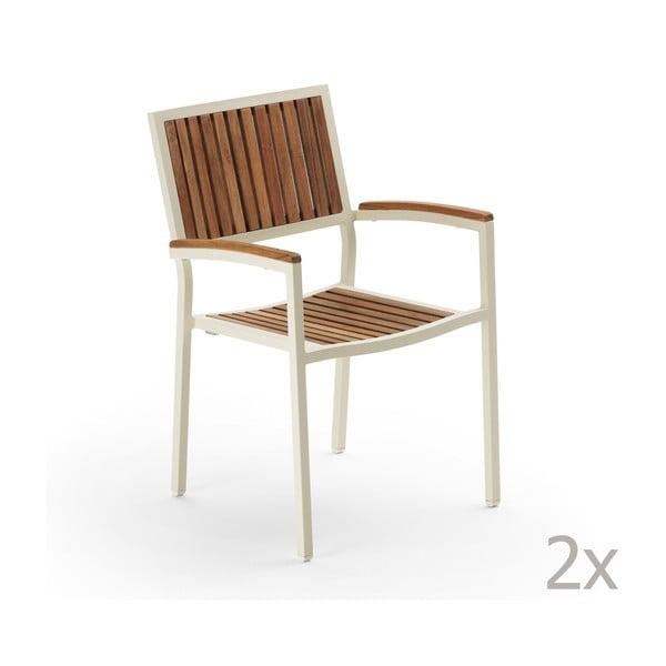 Zestaw 2 krzeseł ogrodowych Pranzo