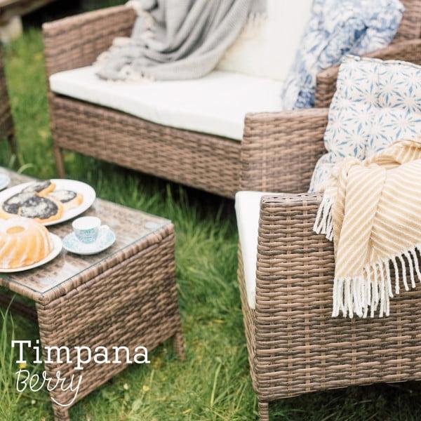 Zestaw mebli ogrodowych ze sztucznego rattanu Timpana Berry