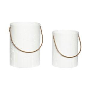 Zestaw 2 lampionów porcelanowych Hübsch Deb
