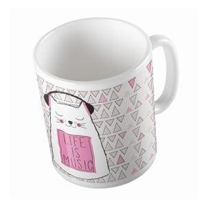 Ceramiczny kubek Life Is Music, 330 ml