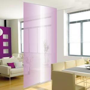 Zestaw 2 podwieszanych paneli, przezroczysty fiolet