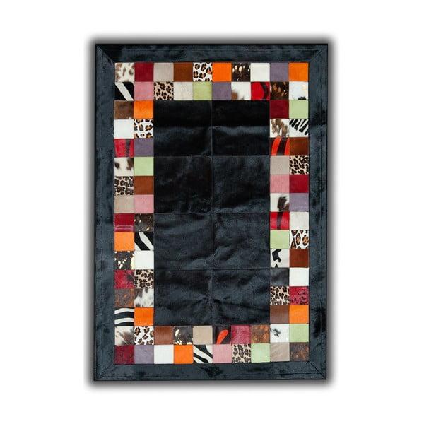 Dywan skórzany Black, 140x200 cm