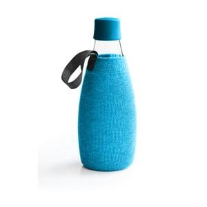 Jasnoniebieski pokrowiec na szklaną butelkę ReTap z dożywotnią gwarancją, 800 ml