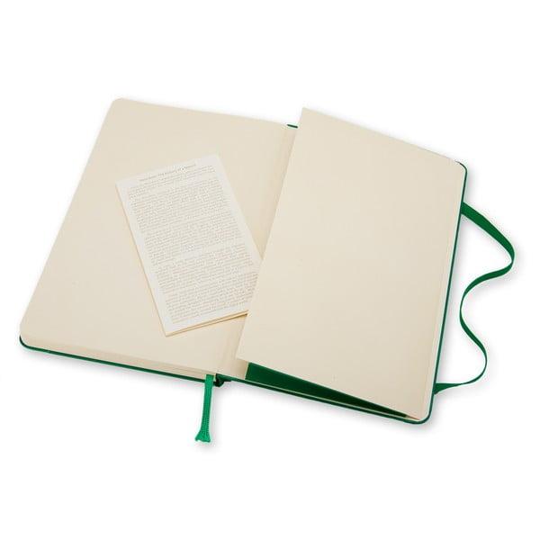 Zielony notatnik Moleskine Hard, gładki