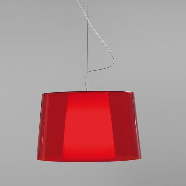 Czerwona lampa wisząca Pedrali L001S/BA