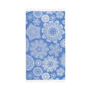 Niebieski ręcznik hammam Kate Louise Isabella, 165x100 cm