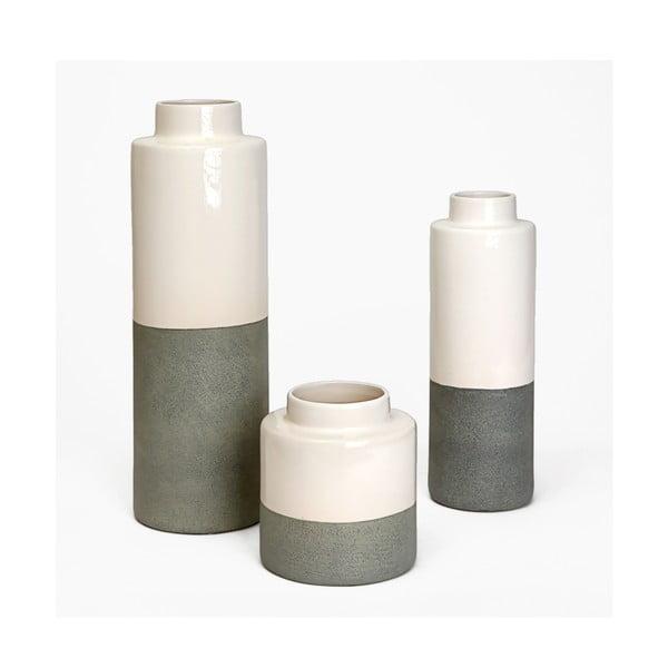 Ceramiczna waza Jungle Krem, wysokość 41 cm