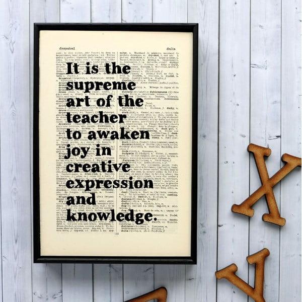 Plakat w drewnianej ramie Einstein Teacher
