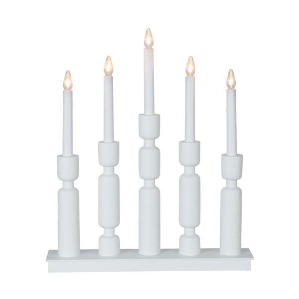 Biały świecznik LED Best Season Uddebo