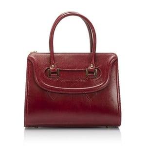 Bordowa torebka skórzana Lisa Minardi Calf