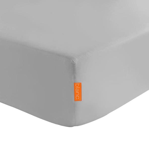Szare prześcieradło elastyczne HF Living Basic, 90x200 cm