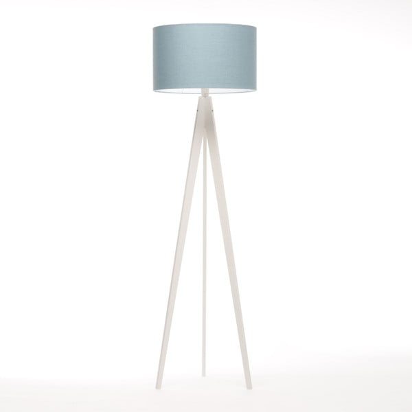 Lampa stojąca Artist Light Blue Linnen/White Birch, 125x42 cm