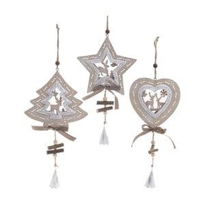 Zestaw 3 dekoracji wiszących InArt Ornament