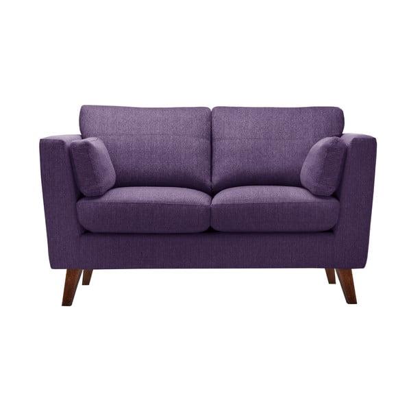 Zestaw fotela i 2 sof dwuosobowej i trzyosobowej Elisa, fioletowe