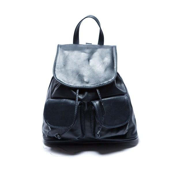Niebieski skórzany plecak Sofia Cardoni Valerio