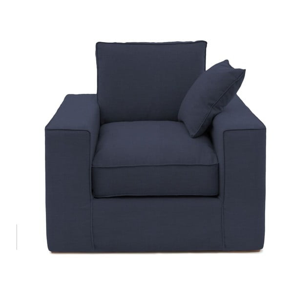 Granatowy fotel Vivonita Jane