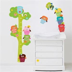 Naklejka wielokrotnego użytku Owls Tree Hight Chart
