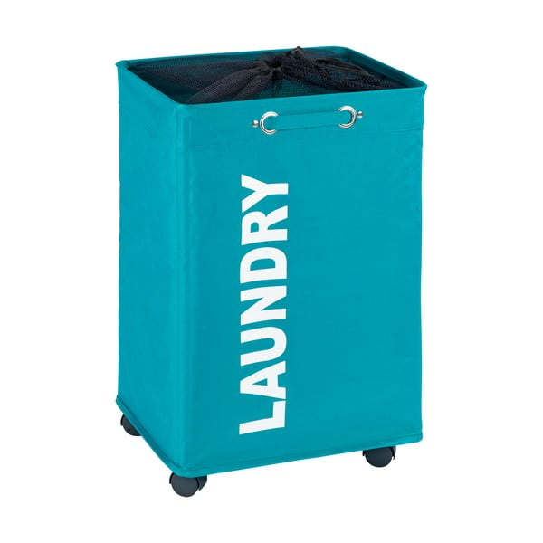 Niebieski kosz na pranie Wenko Quadro