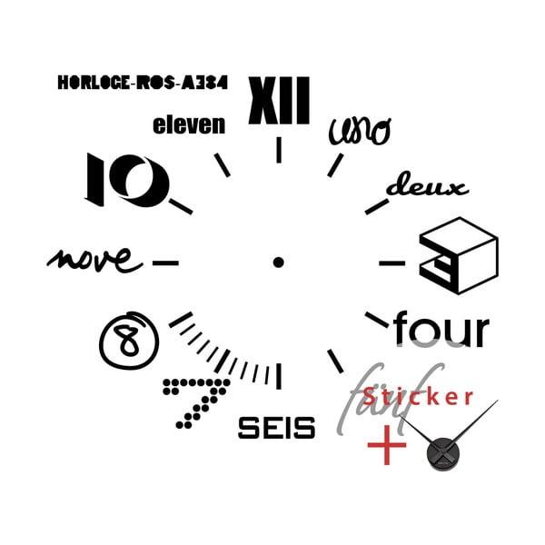 Naklejka/zegar naścienny Ambiance Multilanguages