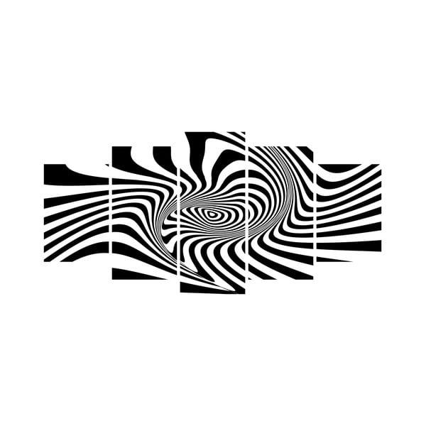 Wieloczęściowy obraz Black&White no. 56, 100x50 cm