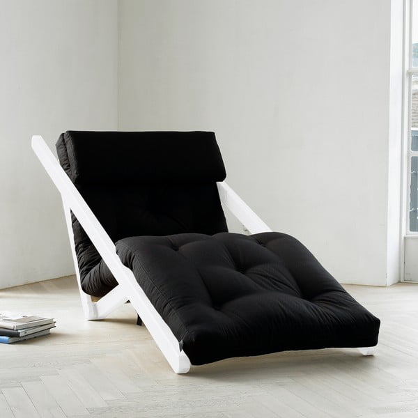 Szezlong Karup Figo, White/Black, 70 cm