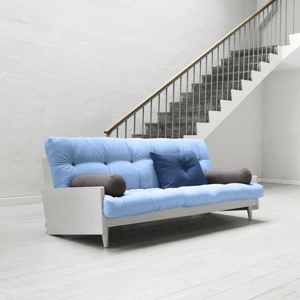Sofa rozkładana Karup Indie Cool Gray/Celeste/Gris