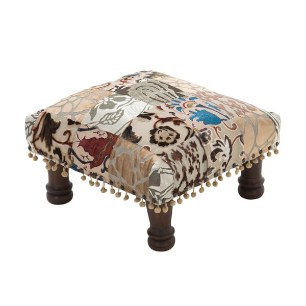 Taboret Patchwork Blue/Brown