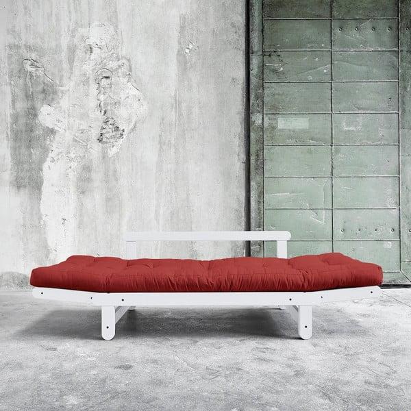 Sofa rozkładana Beat White/Passion Red